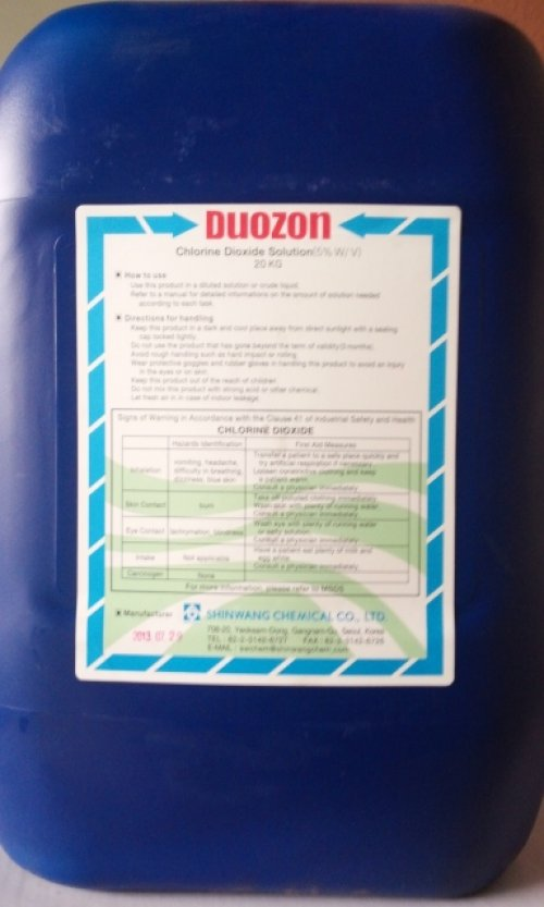 Chlorine Dioxide 5% sát khuẩn hải sản và trái cây xuất khẩu